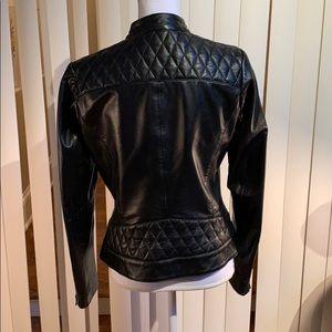 Bod & Christensen Jackets & Coats - Bod & Christensen Quilted Blk Leather Jacket Sz M